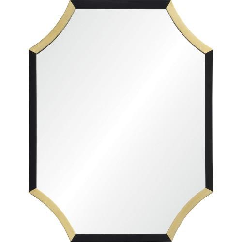 Harlowe Octagon Mirror - Gold Leaf/Black