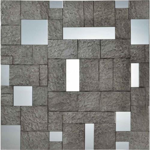 Sought Square Mirror - Cement
