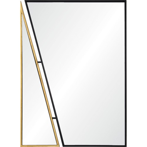 Idiom Rectangle Mirror - Black/Antique Gold
