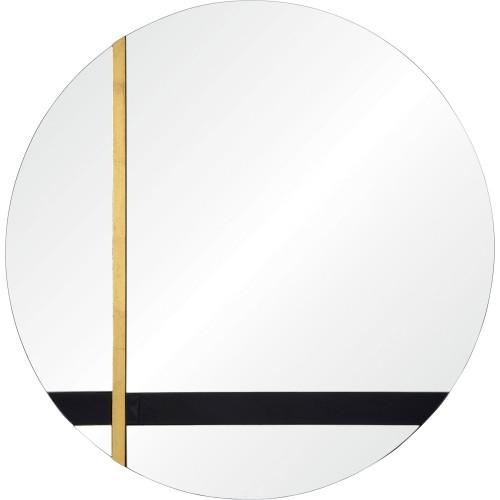 Gavin Round Mirror - Silver/Black Tint/Gold Leaf