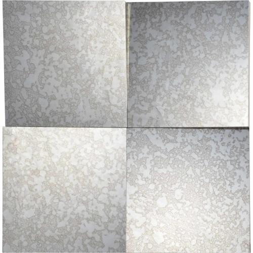 Sanbis Square Mirror - Silver Leaf