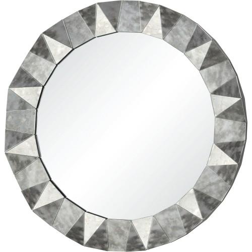 Hadleigh Round Mirror - Antique Mirror