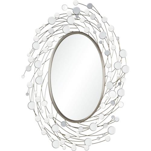 Sirit Irregular Mirror - Silver Leaf