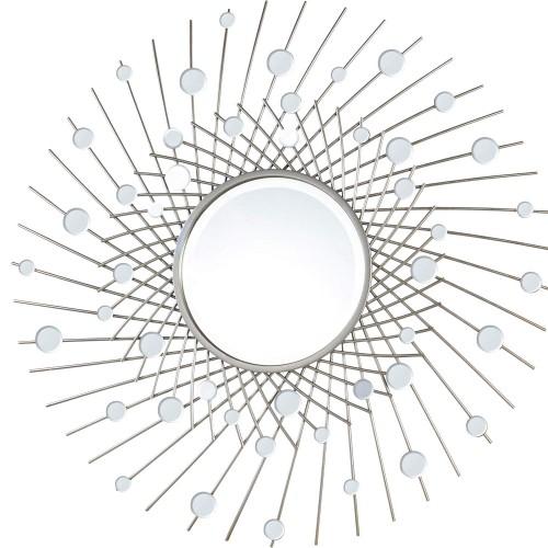 Latham Irregular Mirror - Silver Leaf