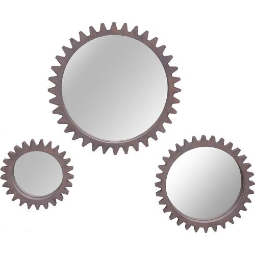 Avrey Round Mirror - Grey Wash