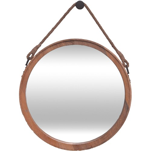 Cate Round Mirror - Natural