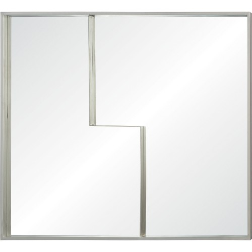 Alex Rectangle Mirror - Light Champagne Silver