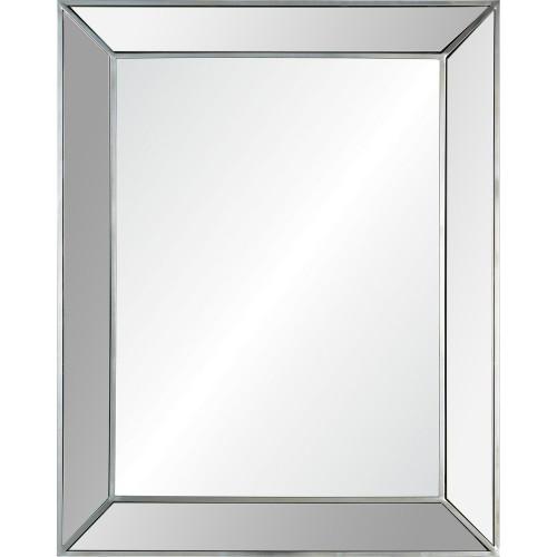 Ary Rectangle Mirror - Antique Silver