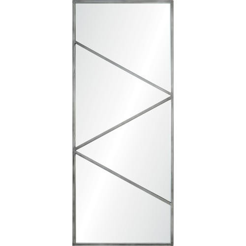 Midwood Rectangle Mirror - Antique Brushed Silver