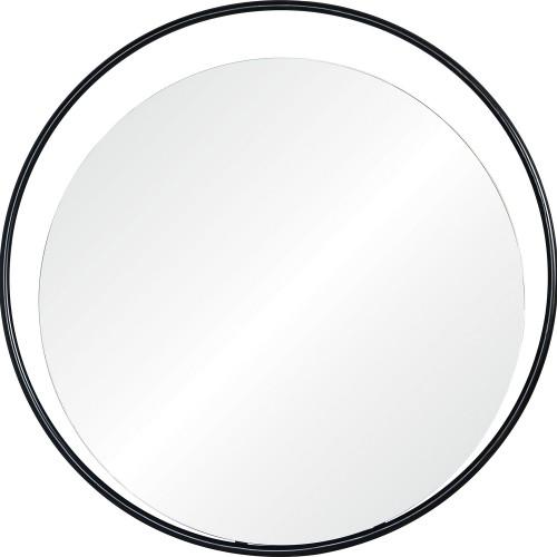 Rochford Round Mirror - Matte Black