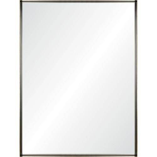 Yaelle Rectangle Mirror - Matte Black/Antique Gold Edges