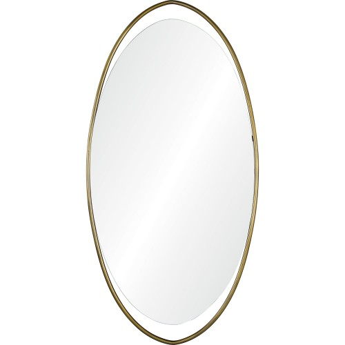 Sonnet Oval Mirror - Antique Brass Painted