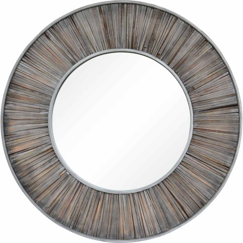 Mac Round Mirror - Dark Gray
