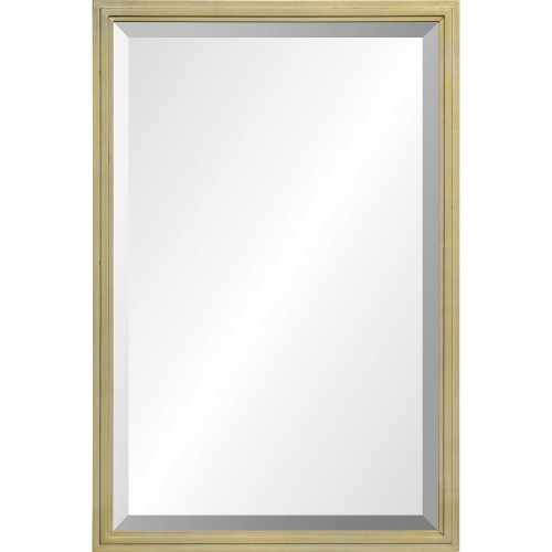 Overland Rectangle Mirror - Champagne Gold