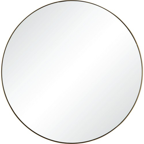 Witham Round Mirror - Gold Paint
