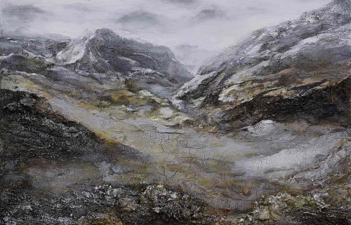 Winter Ridge Canvas Painting - Matte