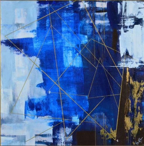 Blue Dream Canvas Painting - Matte