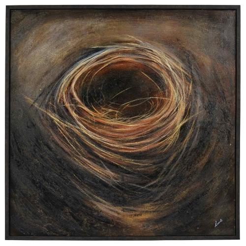 Granger Canvas Painting - Matte/Gold Leaf