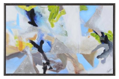 Polaris Canvas Painting - Charcoal Grey