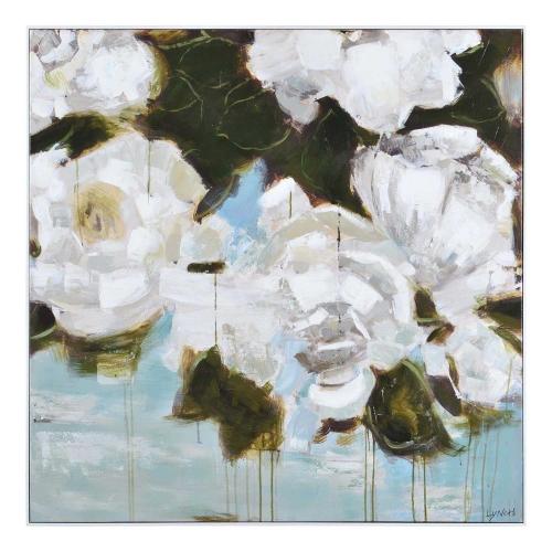 Corvus Canvas Painting - White