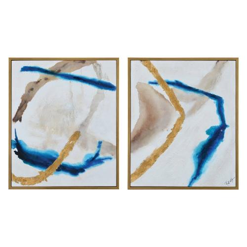 Kuma Canvas Painting - Gold