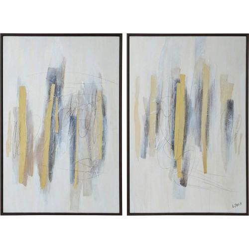 Kellert Canvas Art - Collage Accent/Brown