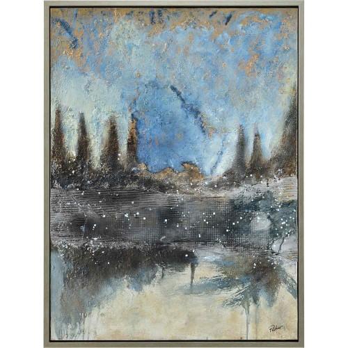 Lockhart Canvas Art - Matte/Silver