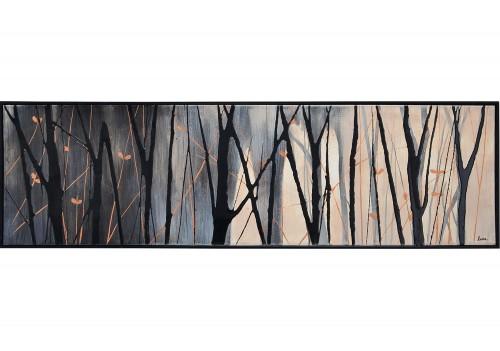 Bloomfield Canvas Art - Matte/Black