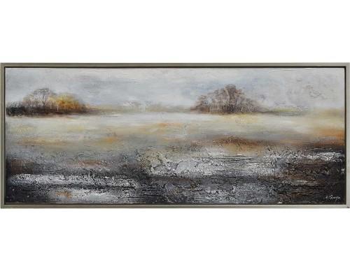 Sydenham Canvas Art - Matte/Silver