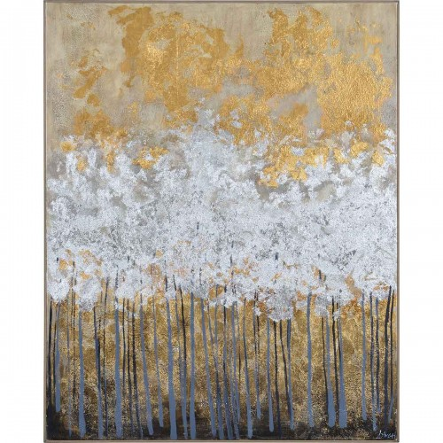 Magee Canvas Art - Matte/Gold Leaf Accent/Chocolate
