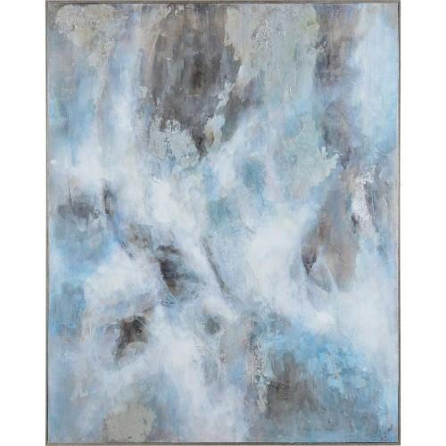 Graham Canvas Art - Matte/Silver Leaf Accent