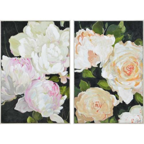 Adrianne Canvas Art - Matte/White Timber