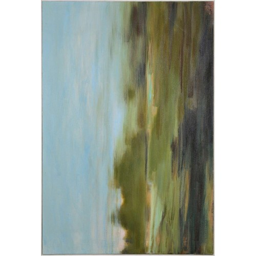 Sabourin Canvas Art - Matte/White Timber