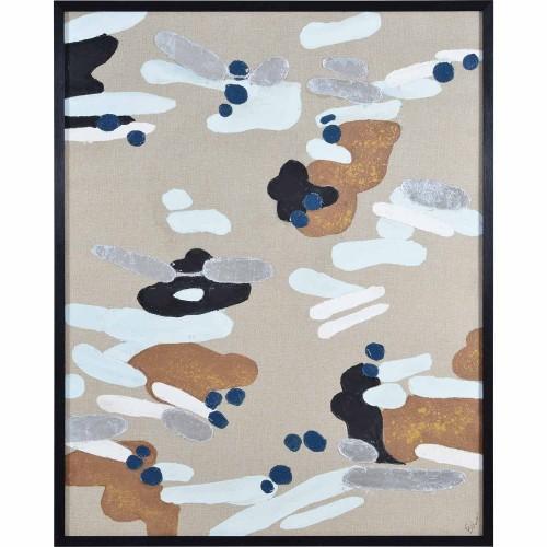 Carsten Canvas Art - Matte/Silver Leaf Accent/Black