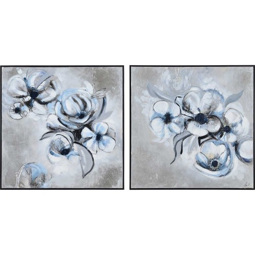 Edan Canvas Art - Matte/Silver Foil/Black
