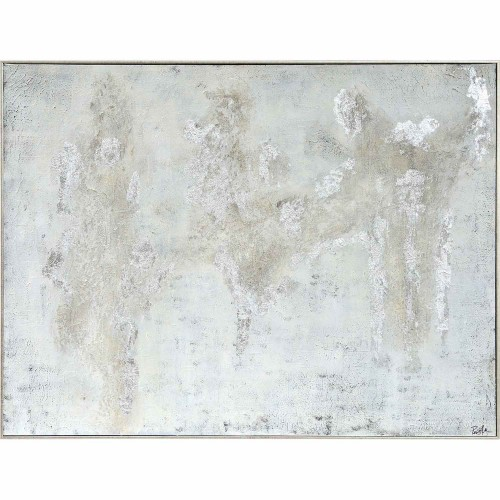 Devonshire Canvas Art - Matte/Silver Leaf/High Gloss Accent