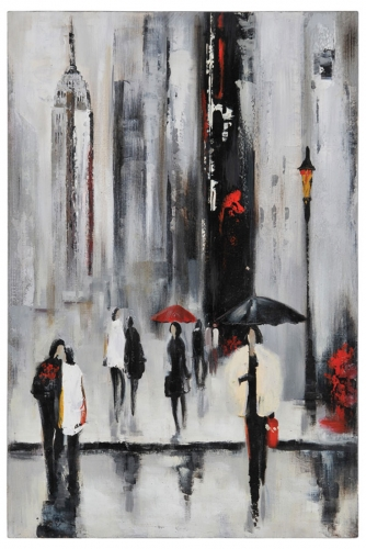 Bustling City I Canvas Painting