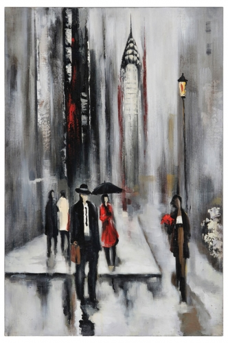 Bustling City II Canvas Painting