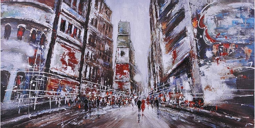 Evening in Times Square Canvas Painting