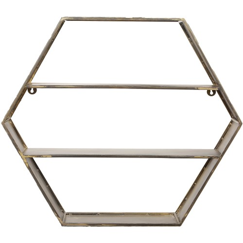 Falkner Shelf - Antique Brass