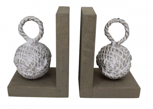 Clift Bookends - Rustic Silver