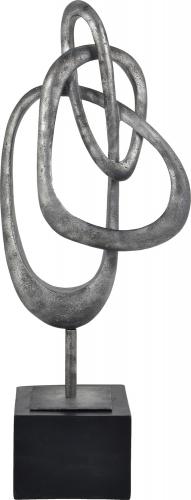 Moncton Statue - Antique Silver