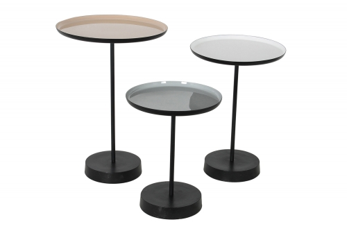 Stepping Stone Accent Table - White/Beige/Grey