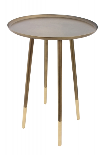 Pawn Accent Table - Antique Brass