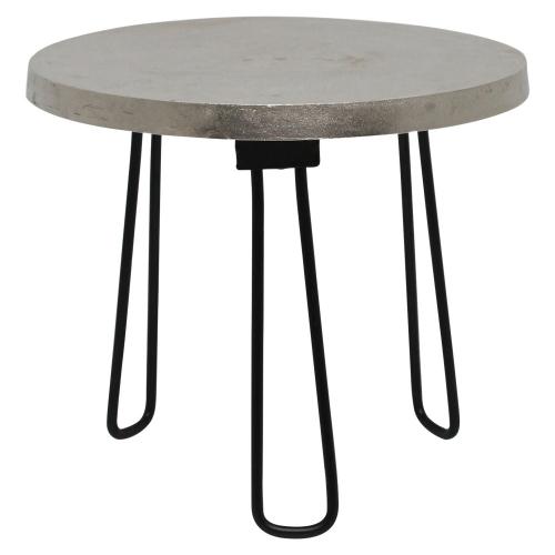 Medina II Accent table - Nickel/Black