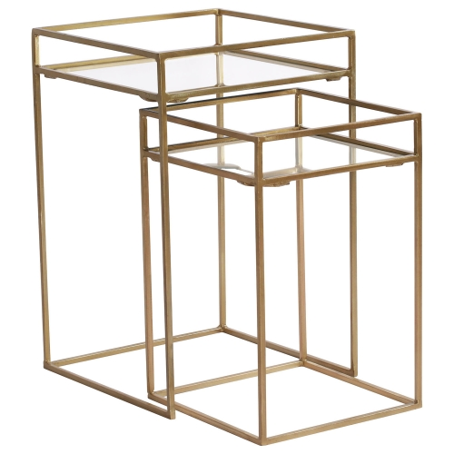Cardiff Accent table - Brass Plated