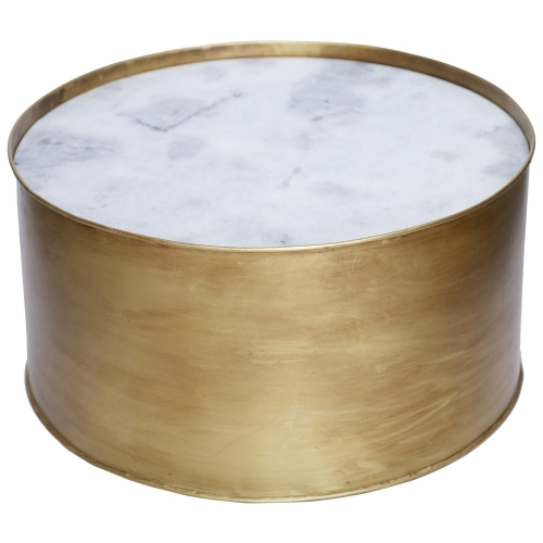 Domingo Accent table - Marble/Gold Antique