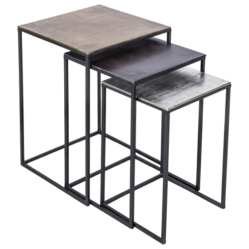 Threefold Accent table - Bronze/Matt Black