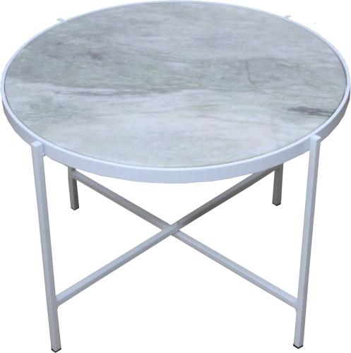Carlsbad Side Table - White Powdercoat