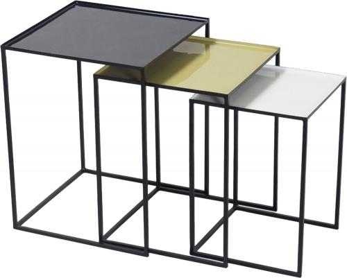 Arrie Accent Table - Black/Enamel